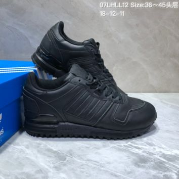 KUYOU A398 Adidas Originals ZX700 Leather Sports Running Shoes All Black