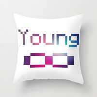 Young Forever Throw Pillow by Tchea-ster