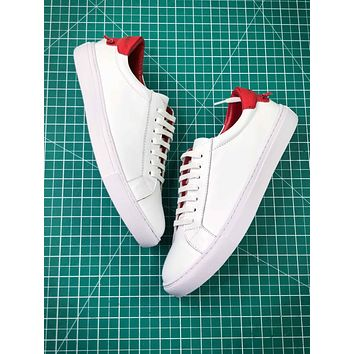 Givenchy Low Top Lace Up White Red Sneakers