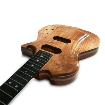 Handmade Electric Wood Guitar - Black Walnut, Ash, Mahogany