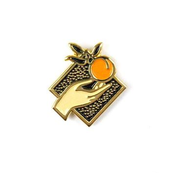 Fruits Of Labor Orange Pin