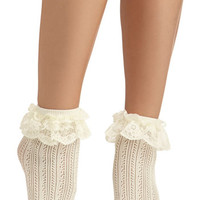 Fairytale Dancing on Flair Socks by ModCloth