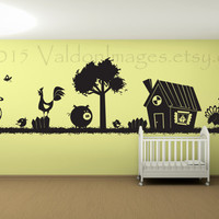 Fun on the farm wall decal, vinyl wall decal, wall art