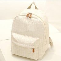 Hot Deal Stylish Comfort College Back To School On Sale Casual Korean Pastoral Style Lovely Lace Backpack [6581130375]