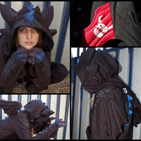 MADE TO ORDER Toothless How to train your dragon hoodie