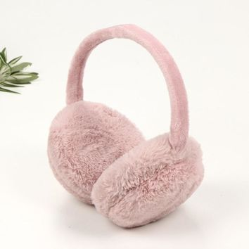 Solid Collapsible Faux Fur Women Winter Earmuffs Men Warm Earmuffs Ear Warmers Christmas Gifts For Boys Girls Ear Muffs Covers