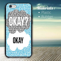 Okay Okay. The Fault in Our Stars iPhone 4/4S, 5/5S, 5C,6,6plus,and Samsung s3,s4,s5,s6