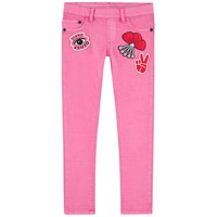 Kenzo Girls Pink Patched Jeggings