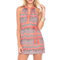 Luli Fama Backless Mini Dress - Fuego Divino