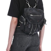 MINI MARTI BACKPACK IN BLACKROSE PRINT WITH RHODIUM | BACKPACK | Alexander Wang Official Site