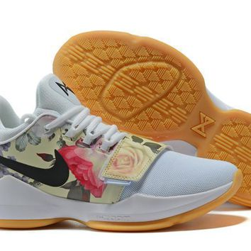 Nike Zoom Pg 1 Ep White Flower Basketball Shoes Us 7 12