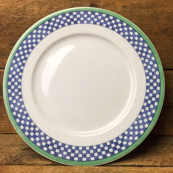 """Villeroy & Bock Switch 3 Castell 10.5"""" Plate - Blue & White Check"""