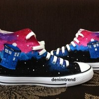 Doctor Who Custom Shoes - Free Shipping Hand Painted Shoes from denimtrend