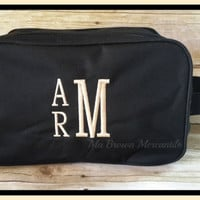 Monogrammed Shaving Kit - Personalized Dopp Bag - Toiletry Accessory Kit - Unique Groomsman Gift - Unique Gift For Men