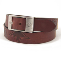 Dallas Cowboys NFL Men's Embossed Leather Belt (Size 38)