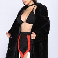 Karolina Faux Fur Jacket - Black