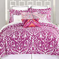 Trina Turk Ikat Purple Comforter and Duvet Cover Sets