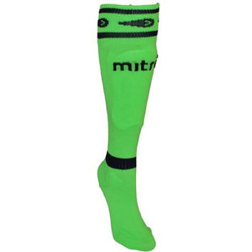 Mitre Sock Shinguards Neon Green Size Junior