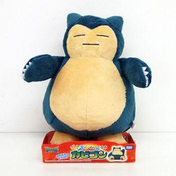 "Takaratomy Takara Tomy Pokemon Sun & Moon Snorlax 9"" Stuffed Plush Authentic USA"