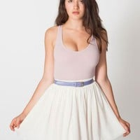 Chiffon Double-Layered Shirred Waist Skirt | Minis | Women's Skirts | American Apparel
