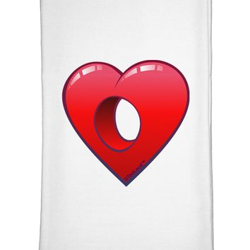 Hole Heartedly Broken Heart Flour Sack Dish Towels by TooLoud