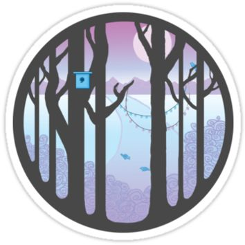 'Step into a different world' Sticker by Wieskunde