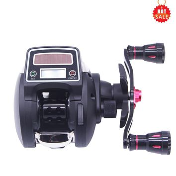 Hu Ying Competitive Price Fast Delivery Water Reel GR 6.3:1 Left/Right Hand Bait Casting Fishing Reel With Digital Display