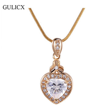 Best murano glass heart pendant products on wanelo gulicx new women heart pendants 18k white gold plated slide mura mozeypictures Images