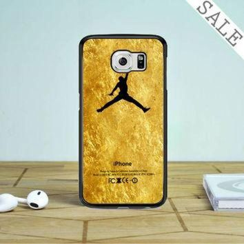 CREYUG7 Michael Jordan Golden Gold Pattern Samsung Galaxy S6 Edge Plus Case