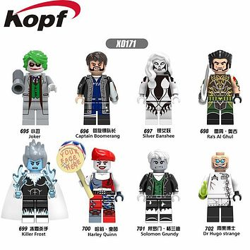 Single Sale Super Heroes Joker Harley Quinn Killer Frost Solomon Grundy Captain Boomerang Building Blocks Kids Gift Toys X0171