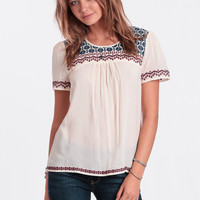 Open Field Embroidered Blouse