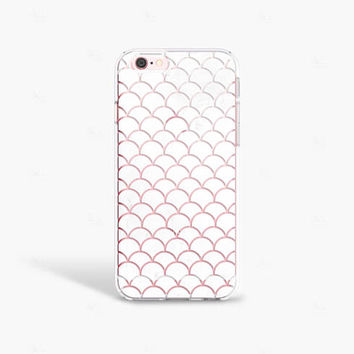 iPhone 7s Case Clear Mermaid Scales iPhone 7S Plus Case Clear White iPhone 7 Case Clear Samsung Galaxy S8 Case Clear iPhone SE Case Clear