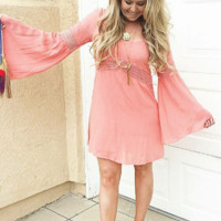 KEEP YOU BUSY DRESS IN CORAL