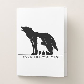 Save the Wolves Pocket Folder