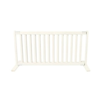 Dynamic Accents Free Standing Wooden Pet Gate, Size - Large / Warm White