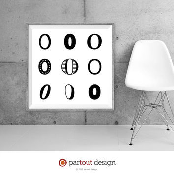 Printable Art zero number art prints Zen Art Home Decor Modernist art Minimal Art Print Instant downloadable art numeric art digital art