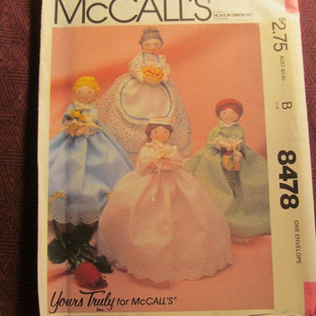 Sale Uncut McCall's Sewing Pattern, 8478! Your Truly Crafts/Home Decor/Arts & Crafts/Quaint Anne Dolls/Doll Clothes/Belle of the Ball/Grandm