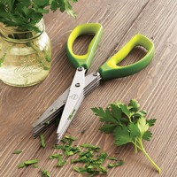 Mastrad Green 10-Blade Herb Scissors | Sur La Table