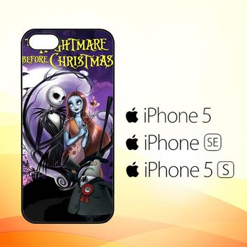 Jack And Sally Muertitos The Nightmare Before Christmas C0092  iPhone 5|5S|SE Case