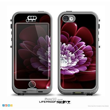 The Glowing Abstract Flower v2 Skin for the iPhone 5c nüüd LifeProof Case