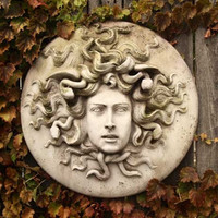 Medusa with Snakes Garden Wall Plaque 18H - 7339