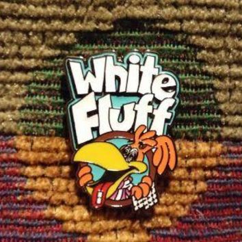 White Fluff Family Acid LSD 25 Blotter Art Puffs Parody Lapel Hat Pin