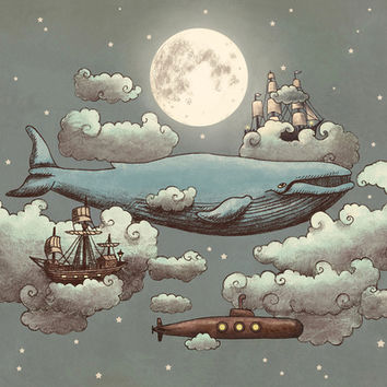 Ocean Meets Sky Art Print by Terry Fan | Society6
