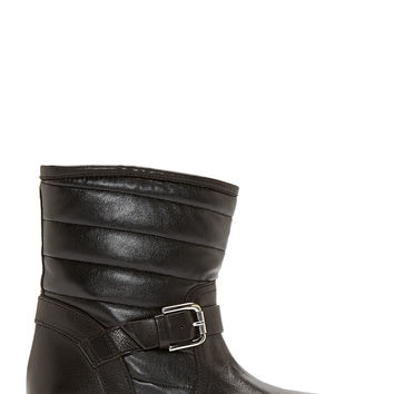 Studio Pollini Black Quilted Arsenal Biker Boots