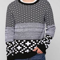The Narrows Cross Intarsia Sweater  - Urban Outfitters