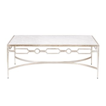Worlds Away Grace Marble Coffee Table