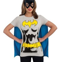 DC Comics Batgirl T-Shirt With Cape And Mask