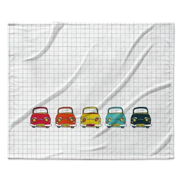 "MaJoBV ""Boys Rock"" Multicolor Cars Fleece Throw Blanket"