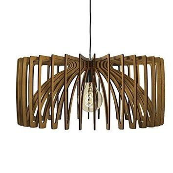 Thr3e Lighting Bowl Pendant Wood Light - Wood Pendant Chandelier