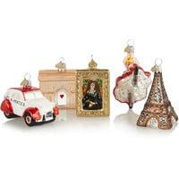 Bombki - Little Paris set of five glass baubles
